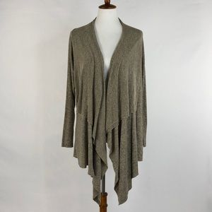 Freeloader Knit Asymmetrical Open Front Cardigan